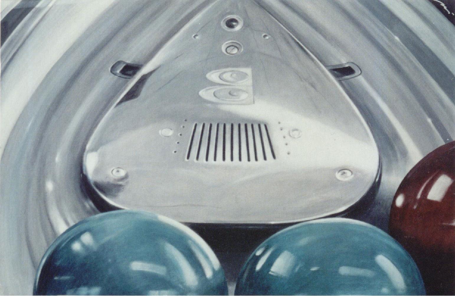 Bowling-(da-IL-GRANDE-LEBOWSKI),2001,-acrilico-su-tavola-telata