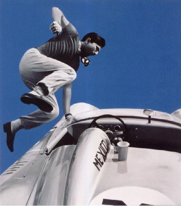 jumping-driver-97x90-(2005)-acrilico-su-pannello-telato